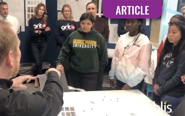 Noblis Hosts Girls Rock in Technology for Tour of Labs and Tech Facilities